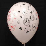 White Party Balloons - Cards & Dice Pk5