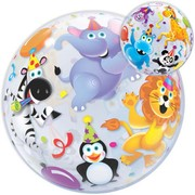 Party Animals Bubble Balloon 22in Pk 1