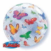 Butterfly Party Balloon - 56cm Bubble Pk 1