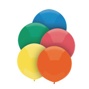 Primary Assorted 17in/40cm Standard Latex Balloons Pk 50