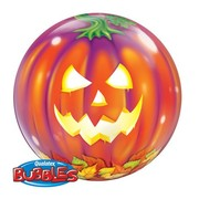 Halloween Jack O Lantern Pumpkin 22in Bubble Balloon Pk 1