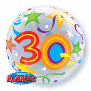 Balloon Bubble 30 Brilliant Stars 22in Pk1