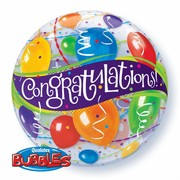 Bubble Balloon Congratulations Balloons 22in Pk1