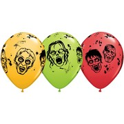 Zombie Latex Balloons Assorted Colours Pk 50