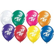Latex Race Horses Balloons Assorted Pk 10