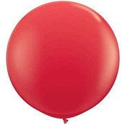 Red 36in/90cm Standard Latex Balloons Pk 2