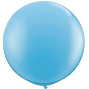 Pale Blue 36in/90cm Standard Latex Balloons Pk 2