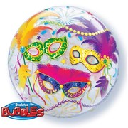 Masquerade Bubble Balloon 22in Pk 1