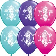 Frozen Latex Balloons - Assorted Colours Pk 6