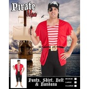 Adult Pirate Man Costume (Large) Pk 1