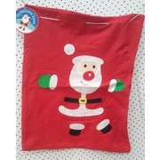 Large Christmas Santa Fabric Sack (47cm x 57cm) Pk 1