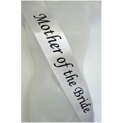 Mother of the Bride Silver Satin Sash Pk 1