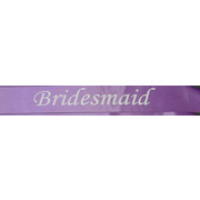 Bridesmaid Purple Satin Sash Pk 1