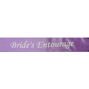 Bride's Entourage Purple Satin Sash Pk 1