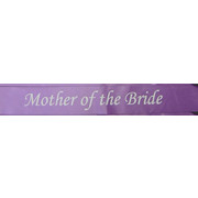 Mother of Bride Purple Satin Sash Pk 1
