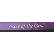 Sister of the Bride Purple Satin Sash Pk 1