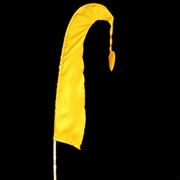 Bali Flag With Tail 50cm Yellow Pk1