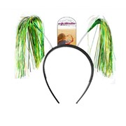 Australia Day Green and Gold Tinsel Headband Pk 1