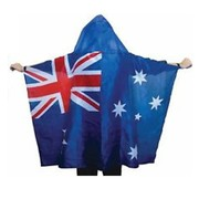 Australian Aussie Flag Adult Cape Costume with Hood Pk 1
