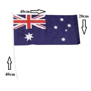 Aussie Flag on Stick (40 x 20cm) Pk 4