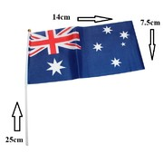 Aussie Flag on Stick (14 x 7.5cm) Pk 10