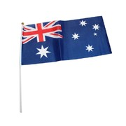 Australia Day Australian Aussie Flags on Poles (30cm x 15cm) Pk 8