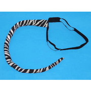 Deluxe Bendable Black & White Zebra Tail Pk 1