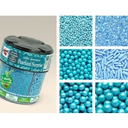 Pearlized Blue Cake Sprinkles (6 Styles per Pack) 72g Pk 1