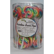 Rainbow Swirl Lollipops (750g - 15g Each) Pk 50
