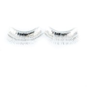 Silver Eyelashes With Glue (1 Pair)