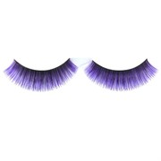 Black & Purple Eyelashes With Glue  (1 Pair)