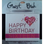 16th Birthday Keepsake Book with Pen Pk 1