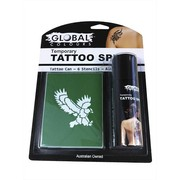 Black Temporary Tattoo Spray (60ml) & Tattoo Stencil Kit Pk 1 (6 Stencils & 1 Can of Spray)