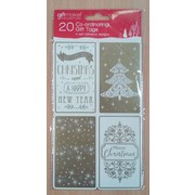 Christmas Assorted Design Gold & Cream Gift Tags Pk 20