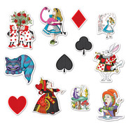 Assorted Alice in Wonderland Cutouts Pk 12
