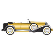 Great 20's Roadster Car Jointed Cutout Prop Pk 1