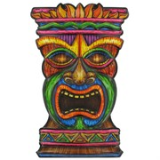 Hawaiian Tiki Face Art Form Pk1
