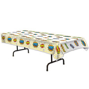 Comic Superhero Signs Plastic Tablecover Pk 1