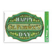 St Patrick's Day Peel & Place Wall Cling (37cm x 29cm) Pk 1