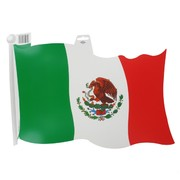 Cutout Flag Mexican 18 inch Pk1