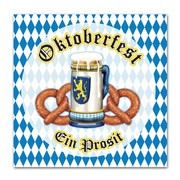 Oktoberfest 2 Ply Lunch Napkins Pk 16