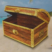Pirate Treasure Chest Cutout 30x20cm Pk1