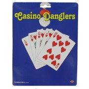 Casino Party Decoration - Vegas Danglers (Red & Silver) Pk2