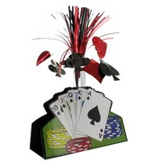 Casino Party Centrepiece - Foil Vegas Playing Cards (13in) Pk1