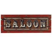 Cutout Saloon Sign 8x22in Pk1