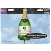 Foil Supershape Party Balloon - Champagne Bottle Pk1