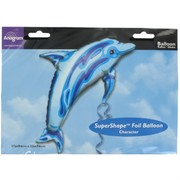 Balloon Foil Supershape Ocean Blue Dolphin Pk1