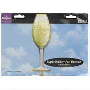Foil Supershape Party Balloon - Champagne Glass Pk1