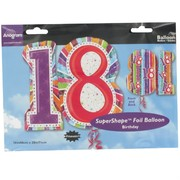Balloon Foil Supershape Radiant Birthday 18 Pk1