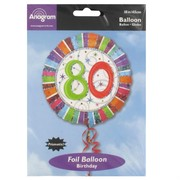 Balloon Foil 18in 80 Radiant Birthday Pk1
